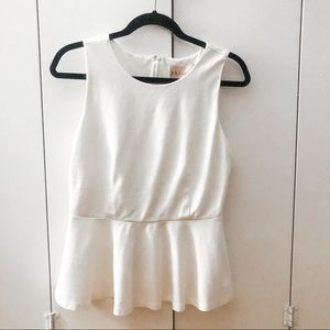 Philosophy | White Peplum Tank Top